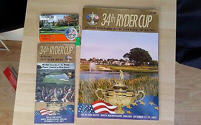 Ryder Cup 2002 34th Ryder Cup Programme Pass Guide