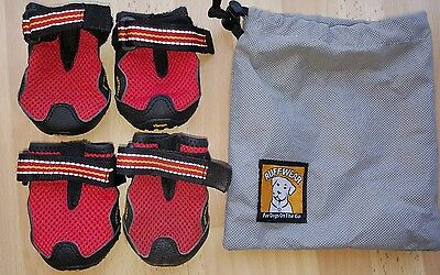 grip trex ruffwear 4 dog boots shoes paw protection vibram soles size small