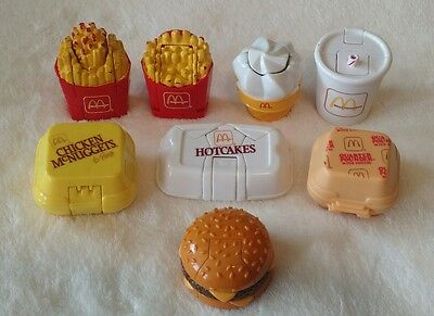 Lot of 8 McDonald's Changables/McRobots Happy Meal toys 1987,1988, & 1990