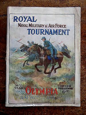 1919 Royal Tournament Programme Naval Military Air Force Olympia London Adverts