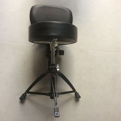 Hardly Used Stagg Professional Drum Stool With Backrest in Black