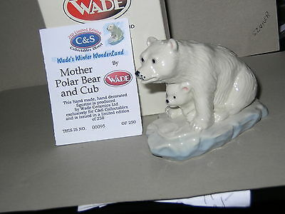 Nice Wade Mother Polar Bear & Cub On Ice .winter Wonderland 2003.box & Cert.