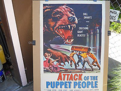Attack Of The Puppet People * Orig 1958 One Sheet (27X41) Bad/bad Doggy