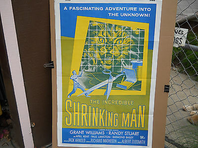 Incredible Shrinking Man * Orig R-64 One Sheet (27X41) That's One Pissed Kitty