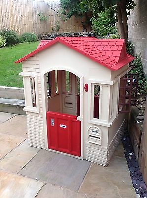 Little Tikes Cape Cottage Tan/Red Playhouse Used, great condition