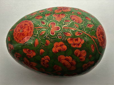Vintage Russian Hand Painted Egg