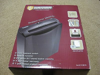 ID Armor 6 Sheet Strip Cut Shredder  Item # 519618