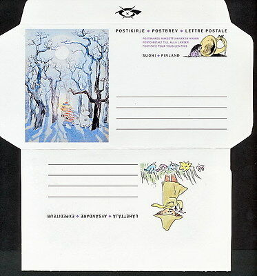 SMAA_345 Finland STATIONERY COVER MOOMINTROLL TALES (2 SCANS) COMBINE SHIPP