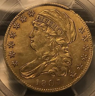 1807 $5 Capped Bust Left Half Eagle PCGS AU55