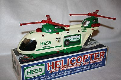 Hess 2001 Helicopter, with Motorcycle and Cruiser EX/BXD!