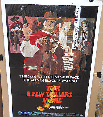 For A Few Dollars More * Orig1967 Folded One Sheet(27X41) The Man With No Name