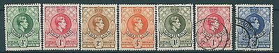 Swaziland 1938 GVI P13.5 x 13 Selection MM & FU
