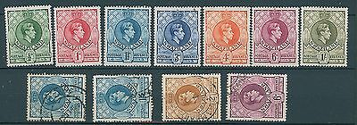 Swaziland 1938 GVI P13.5 x 14 Selection MM & FU
