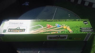 4 Player Croquet Set Lawn Game, New In Box. Collection From Nottingham