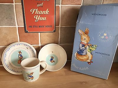 Wedgewood Christening Cup & Plate Set Peter Rabbit