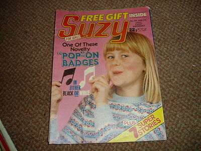 Suzy Comic Jan 22 1983 No 20 Toyah,the Mystery Of Becky's Brother