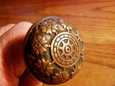 "ANTIQUE BRASS EASTLAKE VICTORIAN  DOORKNOB ORNATE  Small 1 3/4""  lot F"