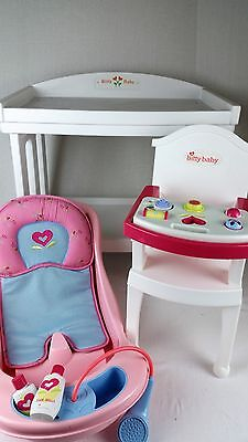 American Girl BITTY BABY CHANGING TABLE High Chair TUB