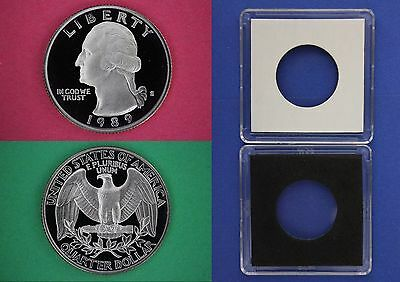1984 S Proof George Washington Quarter With DIY Slab Dp Cameo Combined Shipping