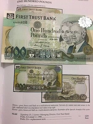 A First Trust Bank  £100 Uncirculated Condition 1998.