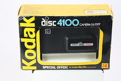 Kodak Disc 4100 Camera in Box with Film and Instructions.