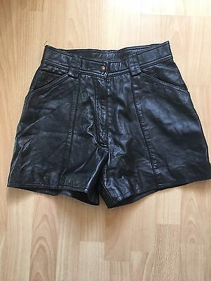 Vintage Leather Shorts