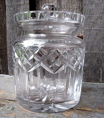 Beautiful Vintage Waterford Crystal Biscuit Barrel Home & Garden Lismore Pattern