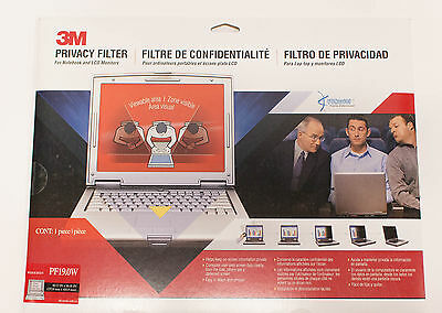 "3M PF19.0W Widescreen LCD Privacy Filter for 19"" LCD Monitors Displays"