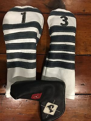 Tour Issue Iliac Golf Leather Headcovers For Ping Titleist Taylormade Callaway