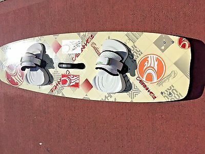 Cabrinha Prodigy Kiteboard 140cm with straps, pads, fins, handle, ready to ride