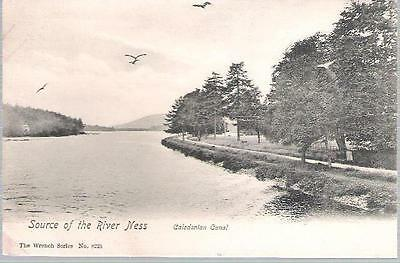 River Ness, Highland - source, Caledonian Canal - Wrench postcard c.1905