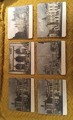 Vintage Set of 6 LADY CLARE Hard Placemats Victorian  British scenes