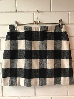 COUNTRY ROAD Size 6 Wool Blend Checked Winter Mini Skirt