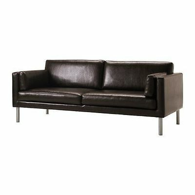 IKEA Split Leather 2.5 Seat Sofa Couch in good used condition
