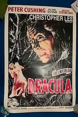 DRACULA - ORIGINAL - US ONE SHEET POSTER 1958   cinema poster .27 x 39 inches