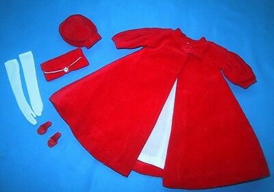 Vintage Barbie RED FLARE Complete Outfit #939 Doll Clothes 1960s  *VERY NICE*
