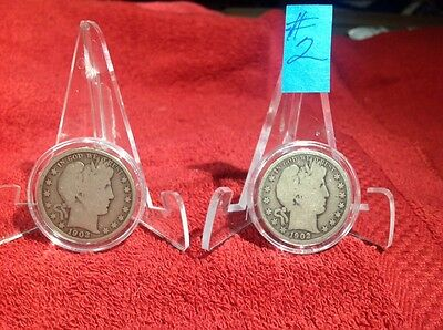 1902- Barber Half Dollar In Guardhouse Air-Tite Holder - You Get One Coin