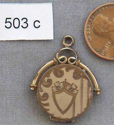 Antique Gold Filled Locket or Watch Fob, Small