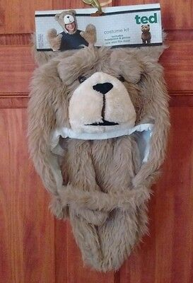 TED Movie Bear Mascot Costume Head Hat and gloves Adult OSFM NWT