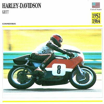 Moto Passion Motorcycle Card D2 000 06-12 USA Harley-Davidson KRTT 1952 to 1964