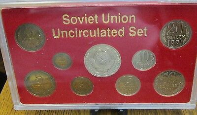 1991 Last Coins of the Soviet Union Uncirculated Set