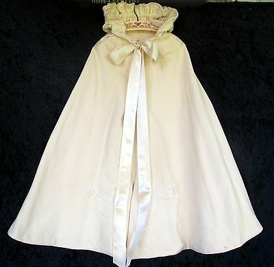 Antique Embroidered Baby or Christening Cape  - Beautiful!