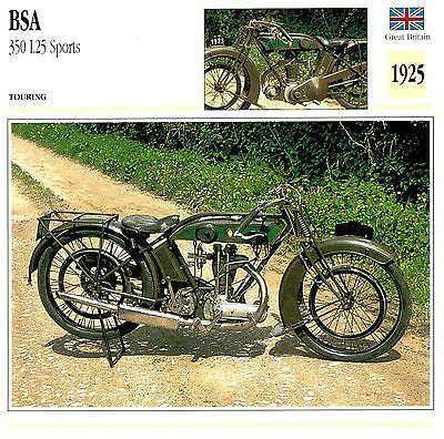 Moto Passion Motorcycle Card D2 000 11-11 Great Britain BSA 350 L25 Sports 1925