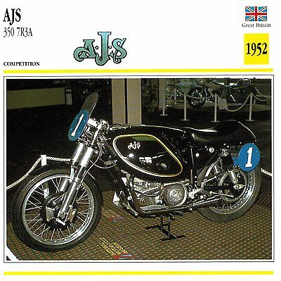 Moto Passion Motorcycle Card D2 000 23-09 Great Britain AJS 350 7R3A 1952