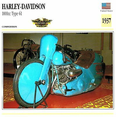 Moto Passion Motorcycle Card D2 000 24-13 USA Harley-Davidson 1000cc Type 61 193