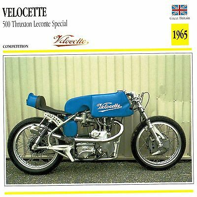 Moto Passion Motorcycle Card D2 000 25-14 Great Britain Velocette 500 Thruxton L