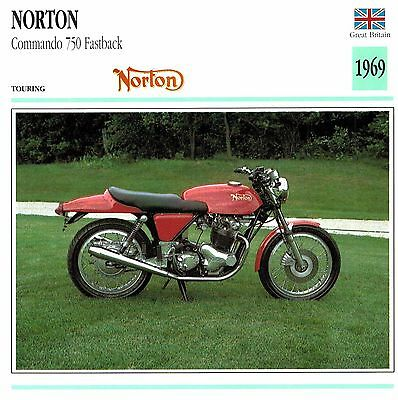 Moto Passion Motorcycle Card D2 000 30-09 Great Britain Norton Commando 750 Fast