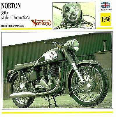 Moto Passion Motorcycle Card D2 000 35-12 Great Britain Norton 350cc / Model 40