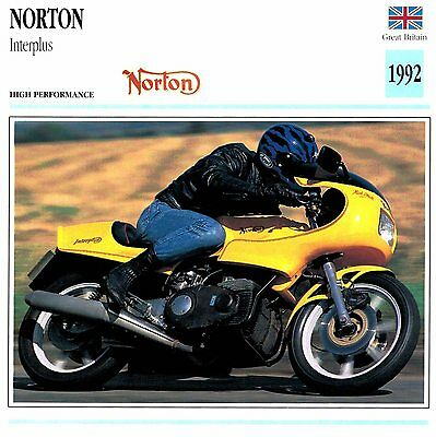 Moto Passion Motorcycle Card D2 000 39-13 Great Britain Norton Interplus 1992