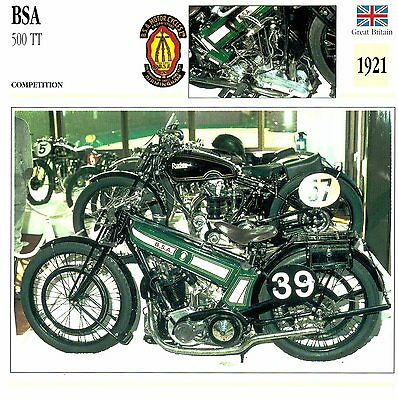 Moto Passion Motorcycle Card D2 000 40-15 Great Britain BSA 500 TT 1921